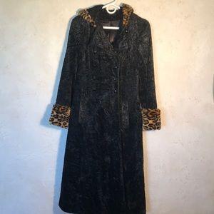 Vintage Faux Fur Long Coat